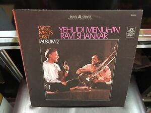 Ravi-Shankar-Yehudi-Menuhin-West-Meets-East-Album-2-LP-Angel-VG