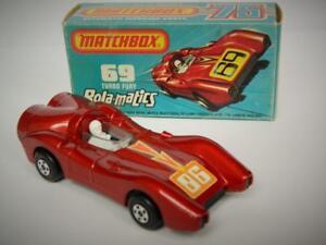 Matchbox-Superfast-rola-matics-Vintage-En-Caja-Raro-039-86-039-Calcomania-No-69-Turbo-Furia
