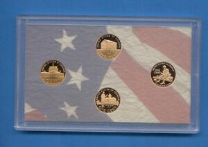 2009-S-Lincoln-Cent-Penny-Four-Coin-Proof-Set-DCAM-NO-Toning