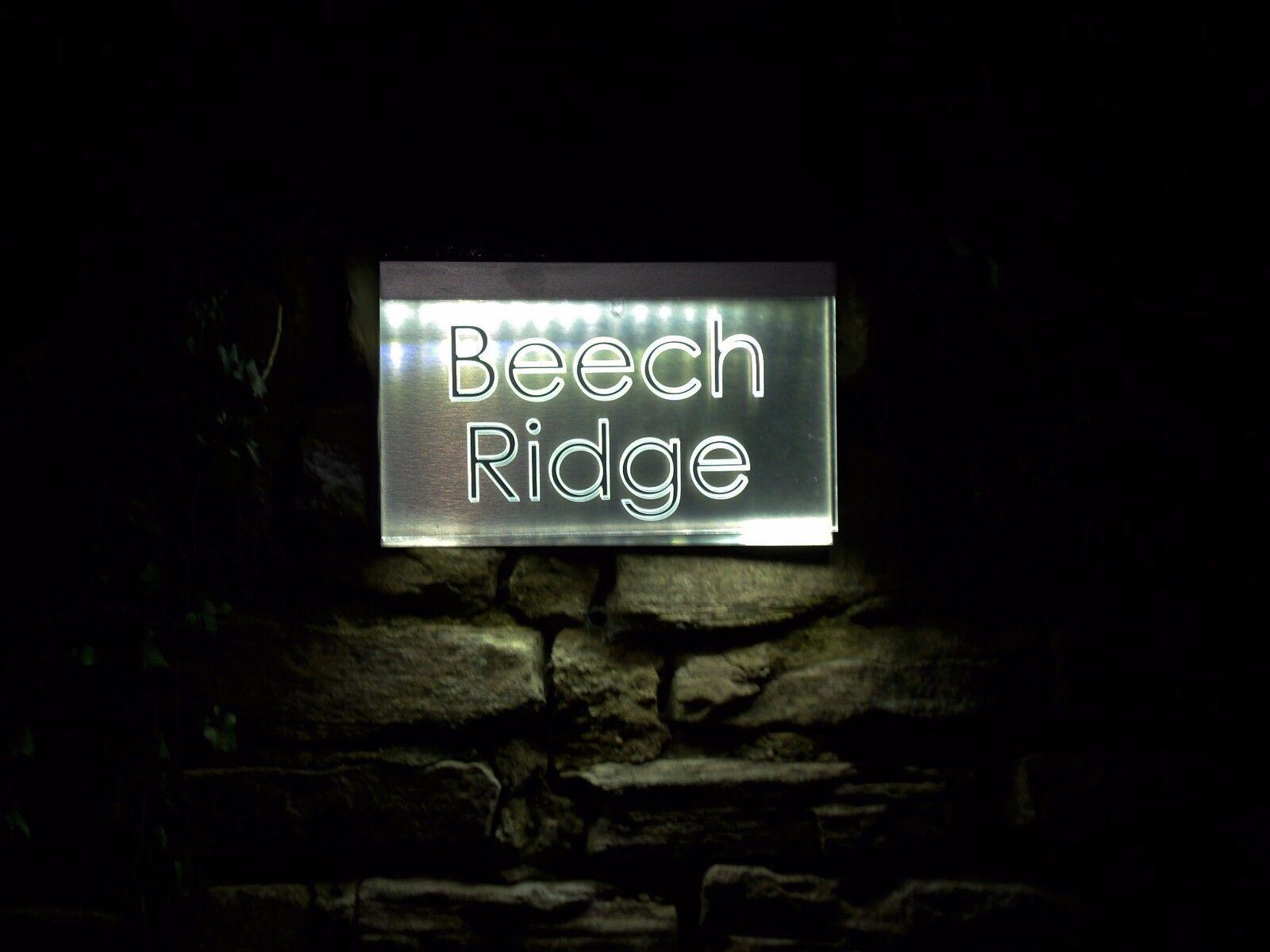 BRITESIGN   LED designer acrylic house number plaque