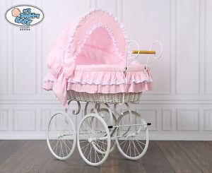 My sweet baby retro stubenwagen nostalgiestubenwagen weide xxxl rosa