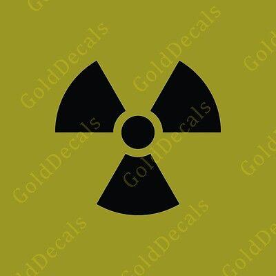 Radioactive - Vinyl Decal Car Truck Mac Sticker Funny Zombie Biohazard Symbol