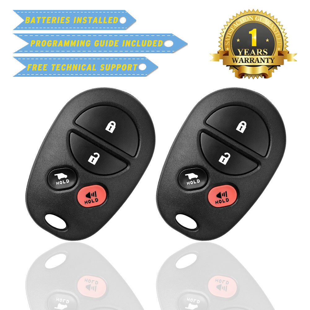 2 for Toyota Sienna 2004 2005 2006 2007 2008 2009 Keyless Entry remote key fob