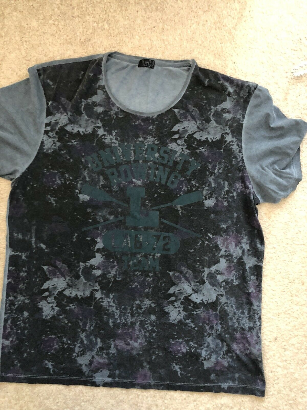 Mens LAB By Pal Zileri T-shirt , Green color , Size 58, Used