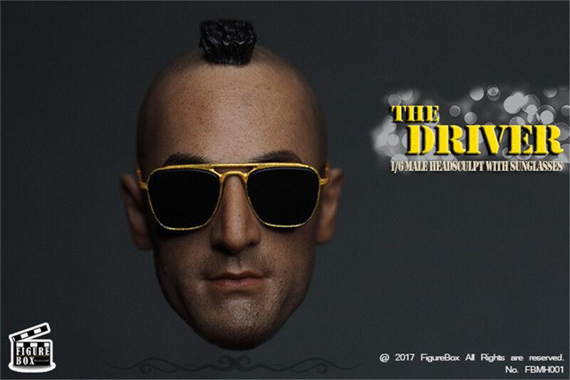 HOT FIGURE TOYS FIGURE BOX 1 6 driver man headplay Metallic glassess suit