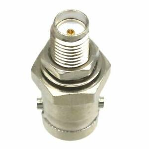 1pce BNC Female Jack to SMA Female Jack RF Coax Adapter Connector Straight