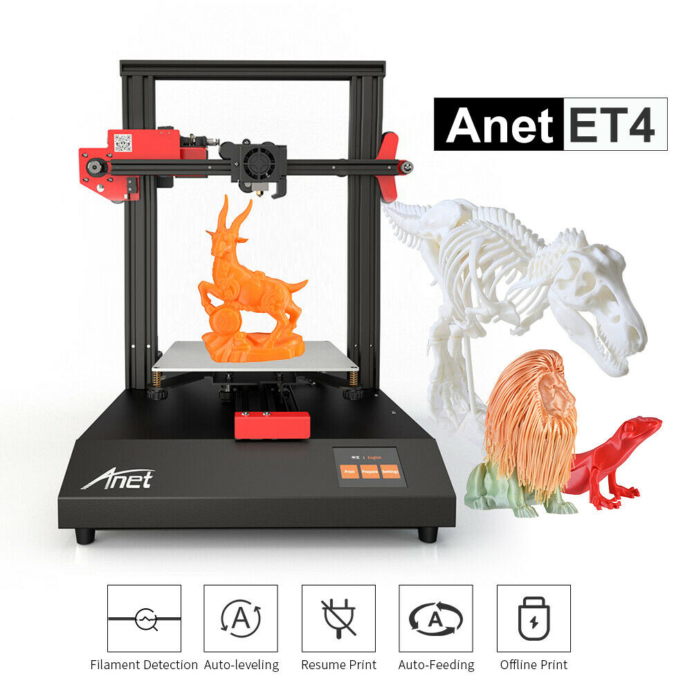Anet ET4 3D Printer Upgrade Mainboard Filament Sensor leveling Resume Print N1Z5 Anet et4 filament leveling mainboard print printer resume sensor upgrade
