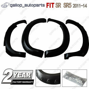 Wrinkle-Shiny-Black-Fender-Flares-Wheel-Arch-Fit-For-Toyota-Hilux-SR5-SR-2011-14