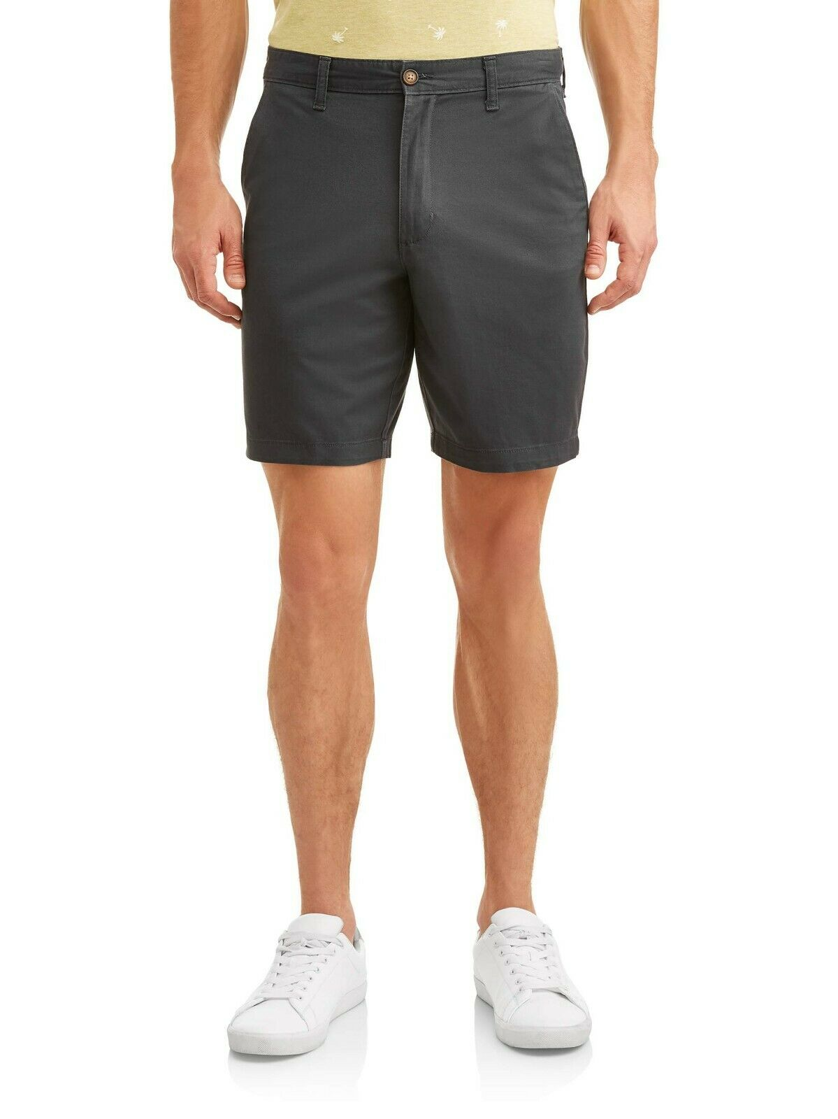 "George Men/'s Casual Flat Front Shorts Size 38 Sidewalk Khaki   9/"" Inseam NEW"