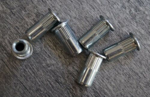 Nietmuttern tuercas remachables cabeza troncocónica acero m8 a partir de 0,5 mm gewindeniete 500 unid.