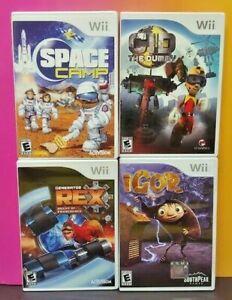 Nintendo-Wii-Wii-U-Game-Lot-Cid-Dummy-Igor-Space-Camp-Rex-Agent-of-Providence