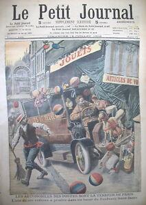 Fbg-SAINT-DENIS-AUTOMOBILE-DES-POSTES-MAGASIN-DE-JOUETS-LE-PETIT-JOURNAL-1909