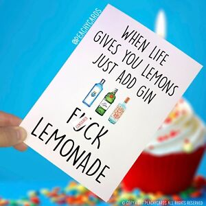 Funny-Cards-Best-Friend-Celebration-Gin-Lover-Gift-Birthday-Christmas-Joke-PC148