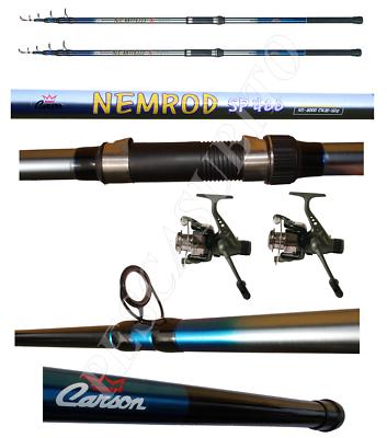 2 Mulinelli Per La Pesca Al Siluro Catfishing 2 Canne 4.20mt Azione 100/200g Other Fishing Rods