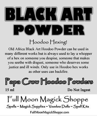 Black Art Hoodoo Voodoo Powder Curse Hex Sickness Death Bankrupt