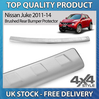 Chrome Rear Bumper Sill Cover Protect Guard Trim S.Steel for Nissan Juke 2011-14