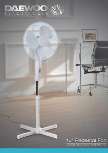 Daewoo 16 Quot Electric Portable Air Cooling Oscillating Floor