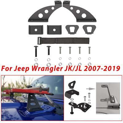For 20182019 Jeep Wrangler JL JK Door//Hood Hinge Bracket Kit Jack Mount