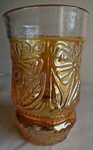 Vintage-Carnival-Glass-Tumblers-Fantasy-Flower-Jain-Glass-Works-India-Rare-53-F