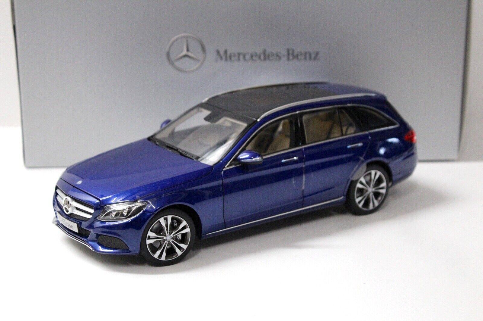 1 18 Norev Mercedes C-Klasse T-Modell bleu DEALER NEW bei PREMIUM-MODELCARS