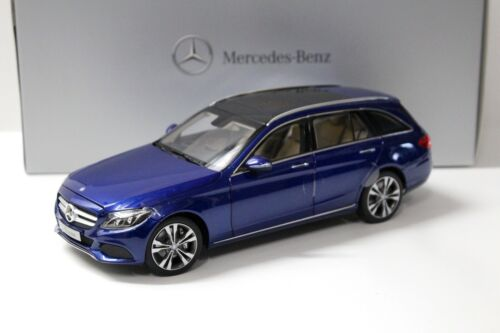 1:18 NOREV MERCEDES CLASSE C T-modello Blue spacciatori NEW in Premium-MODELCARS