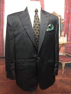 Lovely Sergio Valentino Diamond Collection Black Men's 1 Button 2-piece Suit Size 52r Suits & Suit Separates Men's Clothing