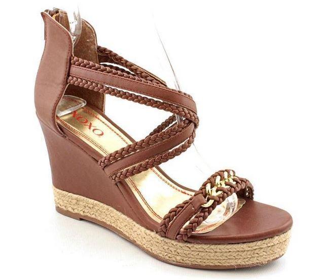 XOXO Flora donna Dimensione 8.5 Marronee Open  Toe Wedge Sandals scarpe UK 6 EU 40  da non perdere!