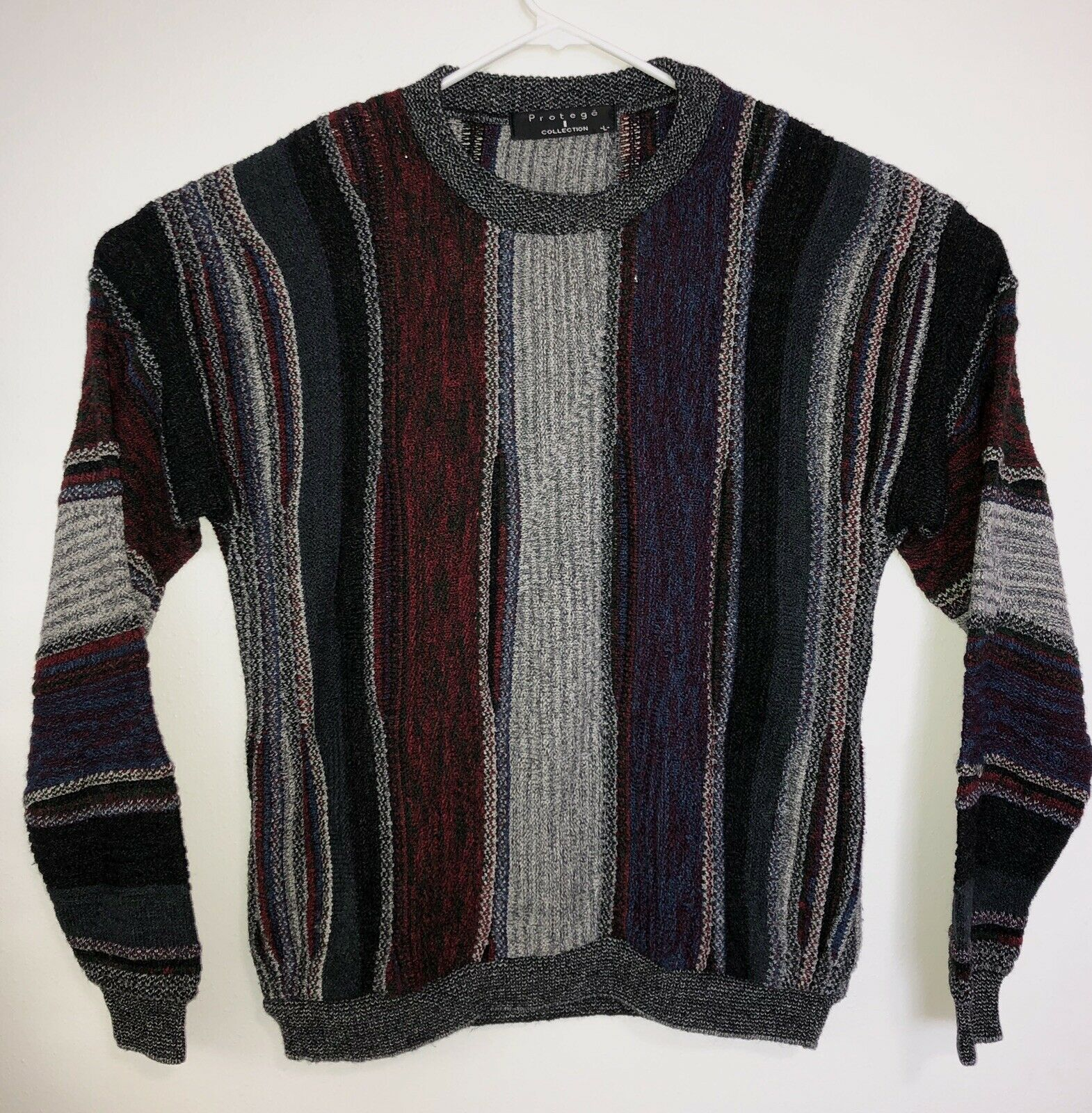Vintage 90's Predege Collection Cosby Coogi Style Multicolor Sweater Large