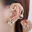 Fashion-Crystal-Clip-Ear-Cuff-Stud-Punk-Wrap-Cartilage-Earring-Women-039-s-Jewelry thumbnail 19
