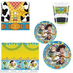 TOY-STORY-Boys-Girls-Children-Kids-Birthday-Woody-Buzz-Lightyear-Party-Tableware
