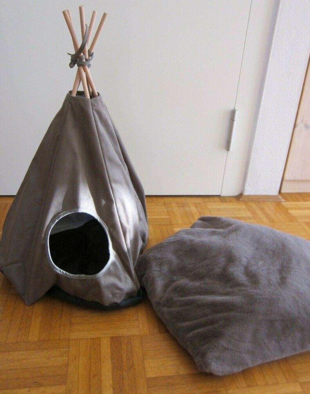 Prime Line Cat Tipi Katzenzelt mit Kissen brown