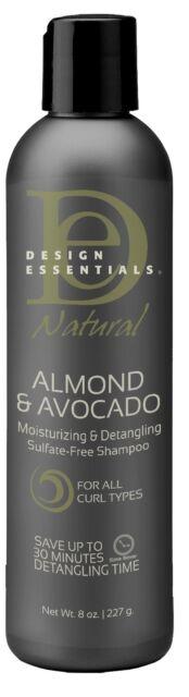 Design Essentials Natural Almond & Avocado Shampoo Sulfate Free 8oz