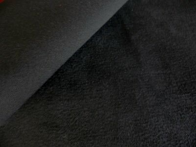 BY THE YARD UPHOLSTERY SUEDE FABRIC COLOR BLACK W// BACKING /& WATER REPELLENT
