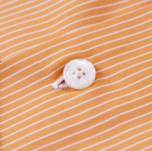 de algodón de 5 vestir en 425 Camisa Nwt naranja finas X 37 de 17 Moderno rayas con Finamore color w1q7FZX
