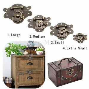 Antique Retro Vintage Decorative Latch Wooden Jewelry Box Hasp Pad