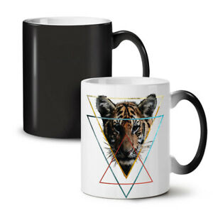 Wild Animal Tiger Face NEW Colour Changing Tea Coffee Mug 11 oz | Wellcoda