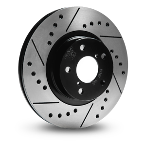 Griffith 5.0 V8 Drilled Grooved Brake Discs Rear solid