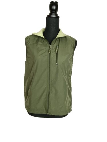 CATALINA Hiking Camping Vest Green Zip Front Ladie