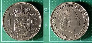 1-Gulden-Juliana-1968-Pays-Bas-Nederland-Nickel-Piece-de-Monnaie-5