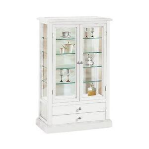 vetrina vetrinetta bianca classica 2 ante | ebay - Vetrina Soggiorno Bianca 2
