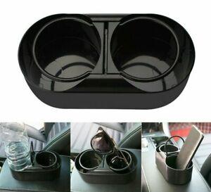Coffee-Cup-Holder-Universale-Auto-Dual-Foro-organizer-acqua-Tazza-da-te-supporto-Rack