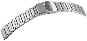 Edelstahl-Gliederband-Uhrenband-Silber-20-mm-Faltschliesse-X8100135200