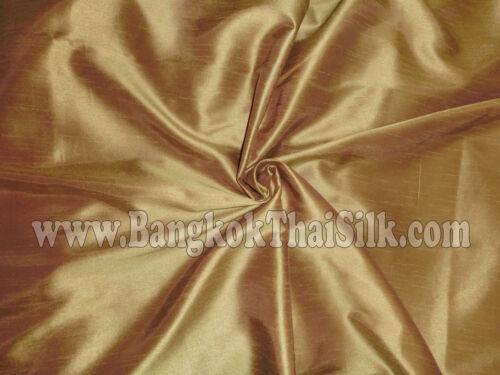 Gold Faux Silk Dupioni Fabric Material Bridesmaid Dress Drape Shirts Ties Blouse