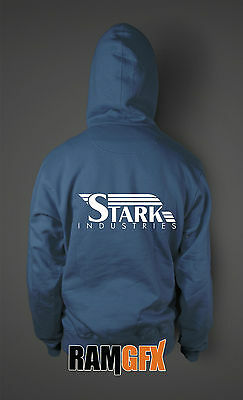 BNWT IRON MAN STARK INDUSTRIES MARVEL COMIC ADULT UNISEX HOODIE NEW S-XXL