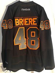 afd7465b6 Image is loading Reebok-Premier-Jersey-Philadelphia-Flyers-Daniel-Briere- Black-