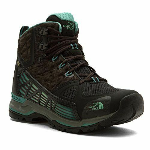 THE NORTH FACE WOMEN'S Sz 9.5 ULTRA GTX SURROUND MID HIKING BOOTS BLACK DEEP SEA