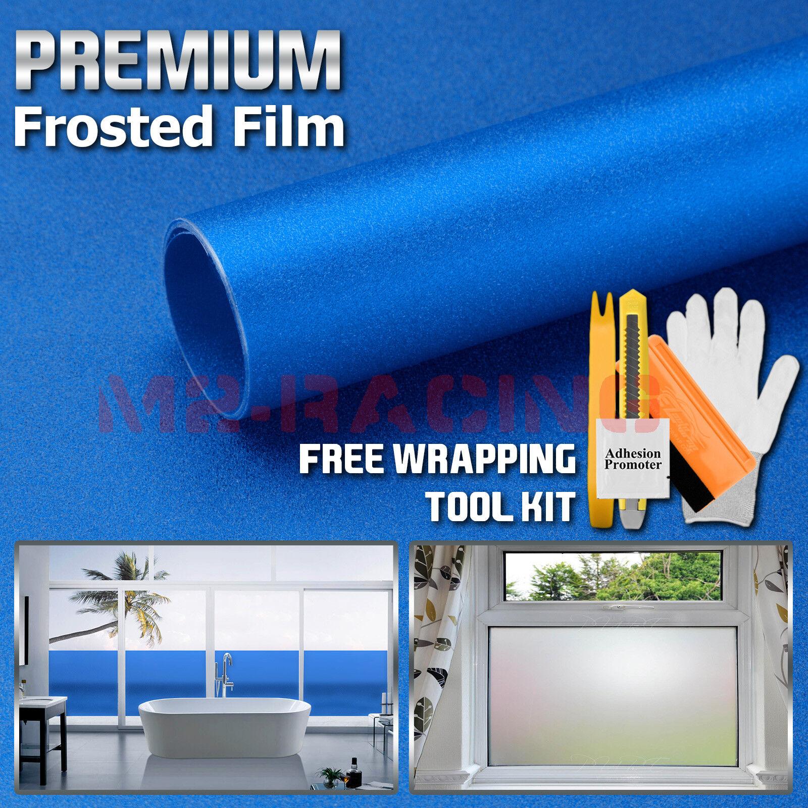Premium Película Vidrio Esmerilado Azul Casa Ventana Del Baño Pegatina de privacidad de seguridad