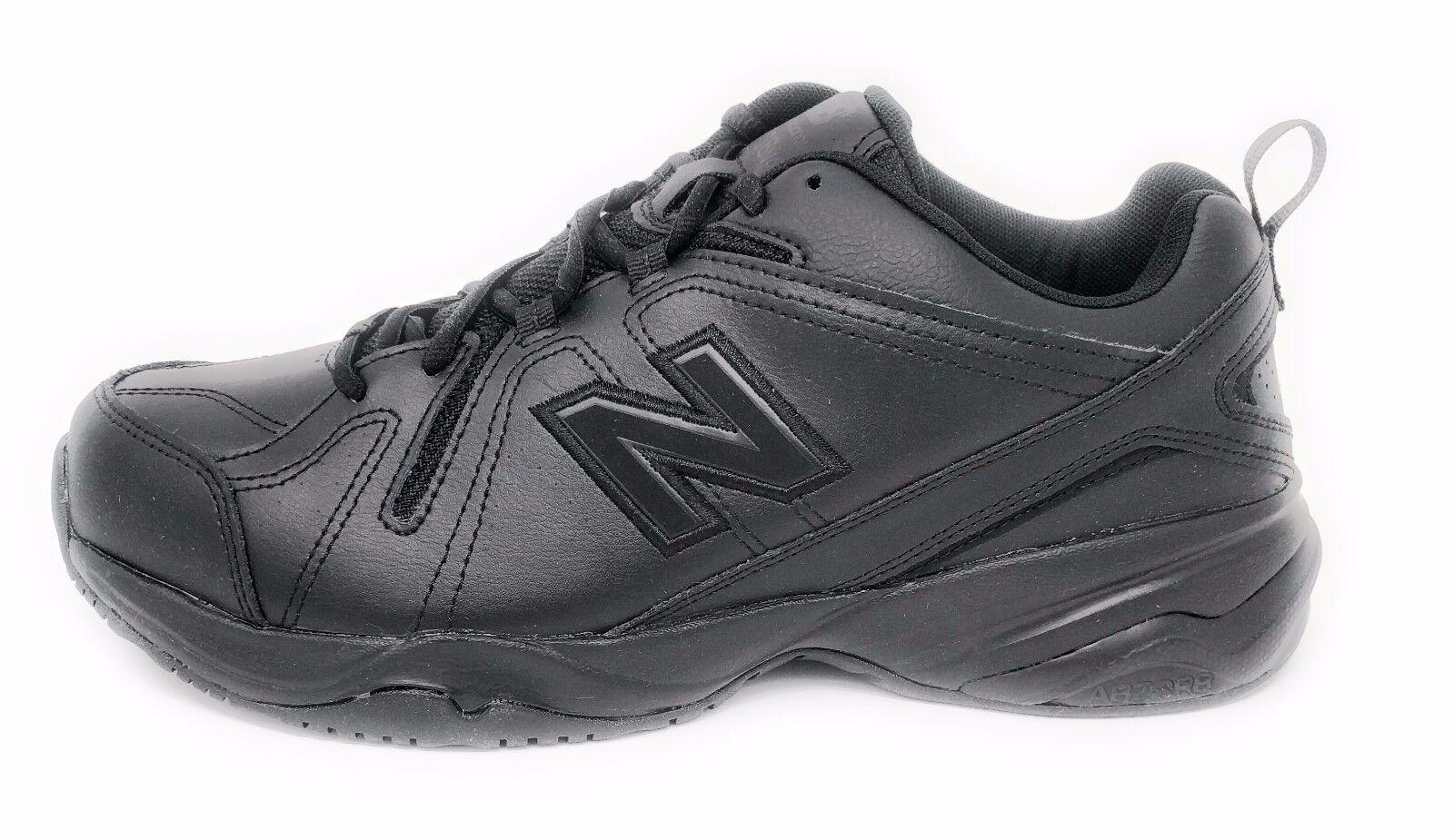 New Balance Men's Black Leather  Lace Up Training Sneaker 4E Width  MX608V4B
