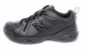 best website 3f642 dd472 Image is loading New-Balance-Men-039-s-Black-Leather-Lace-