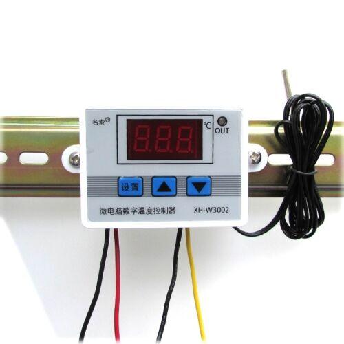 1pc XH-W3002 24V Digital LED Temperature Controller Thermostat Probe Sens New